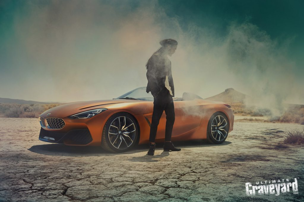 UltimateGraveyard Mojave Desert Film Location BMW Z4 Concept car photographer Agnieszka Doroszewicz